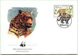 Enveloppe F.D.C. Du Belize 1983) (WWF) - Le Jaguar - (N° Yvert & Tellier 651) - Belize (1973-...)