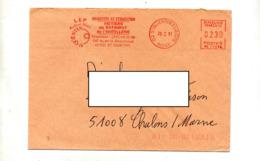 Lettre Flamme  Ema  Saint Suentin College Colard Noel - Poststempel (Briefe)