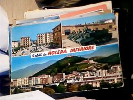 SALUTI DA NOCERA INFERIORE CARRI ARMATI SOLDATI CASERMA C.A.R.T.C. SALERNO VB1965 HQ10143 - Salerno