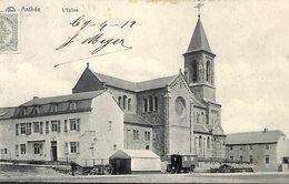 Anthée - L'Eglise (animée, Café Roulotte 1912, Edit. Henry-Deroyer) - Onhaye