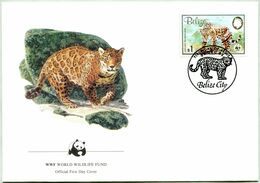 Enveloppe F.D.C. Du Belize 1983) (WWF) - Le Jaguar - (N° Yvert & Tellier 653) - Belize (1973-...)