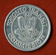 CANADA /  TOKEN / TORONTO TRANSIT COMMISSION / NECESSITE / ALU / N.D. - Professionali / Di Società