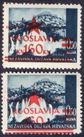 "JUGOSLAVIA - NDH LOCO  ZAGREB - ERROR ""MISPLACED OVPT"" - **MNH - 1945 - Neufs"