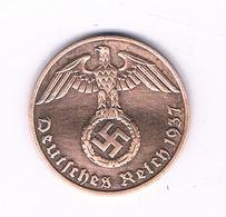 1 PFENNIG  1937 F    DUITSLAND /6336/ - [ 4] 1933-1945 : Tercer Reich