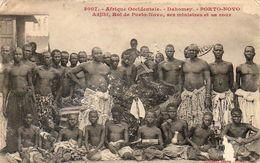 DAHOMEY  Porto Novo  .......... Adjiki Roi De Porto Novo Ses Ministres Et Sa Cour - Dahomey