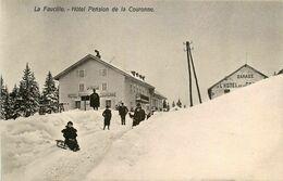 La Faucille * Gex * Hôtel Pension De La Couronne * Son Garage * Luge Sport D'hiver - Gex