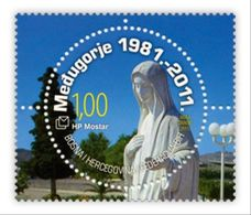 2011 Medjugorje, The 30th Anniversary Of Our Lady's Apparitions, N° 315, Croat Post Mostar, Bosnia And Herzegovina - Bosnia And Herzegovina