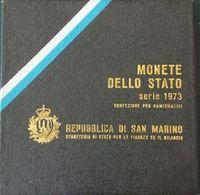 SAN MARINO - SERIE COMPLETA ANNO 1973 - 8 VALORI INCLUSO 500 ARGENTO - SCATOLA - San Marino