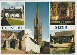 DEPT 29 : édit. Jos Le Doaré N° MX 550 : Sizun L'église ; En Multivues - Sizun