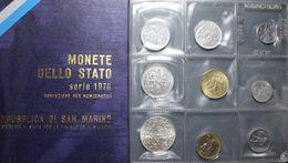SAN MARINO - SERIE COMPLETA ANNO 1978 - 9 VALORI INCLUSO 500 ARGENTO - SCATOLA - San Marino