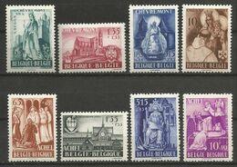 Belgique - N°773 à 780 * - Abbaye D'Achel - Basilique De Chevremont - St Benoît - St Benedictus - Totila - Ste Begge - Belgium