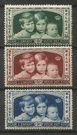 Belgique - N° 404 à 406 * - Enfants Royaux - Baudouin, Joséphine-Charlotte, Albert - Belgium