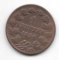*baden 1 Kreuzer 1856 Km 232 - [ 1] …-1871 : Etats Allemands