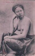 Indochine, Tonkin, Femme Au Seins Nus, Réverie (3174) - Cambodia