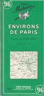 MICHELIN 96, FRANCE, Environs De PARIS - Cartes Routières