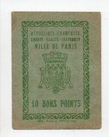 - 10 BONS POINTS VILLE DE PARIS - - Old Paper