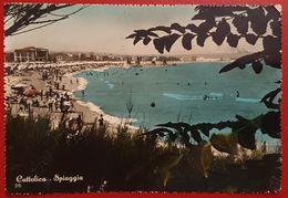 CATTOLICA THE SEA SHORE RIMINI 1954 VIAGGIATA TO ZURICH SWITZERLAND - Rimini