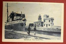 MA20 Cartolina SENIGALLIA PORTO CANALE E FARO - FP NV 1928 - Senigallia