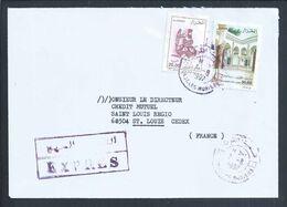 Express Letter With Stamp From Villa Abdullatif, Vila Medicis, Moorish Village Algeria. Abd-el-Tif. Constantine. Porcela - Ferien & Tourismus