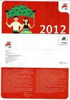 Portugal 2012 , Brochure , Pagela , Issues Programe - Autres (àpd. 1941)