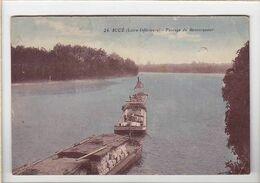 Bateau Péniche / Passage Du Remorqueur, Train De Péniches à Sucé, Dont Bouennec Port Launay - Houseboats