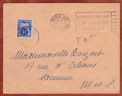 Drucksache, Timbres Taxe Portomarke, Paris Nach ? 1945 (96622) - 1859-1955 Covers & Documents