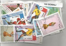 Lot 100 Timbres De Somalie - Somalia (1960-...)