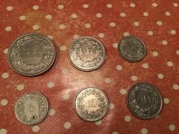 Lot De 6 Pièces SUISSE - Lots & Kiloware - Coins