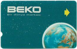 Turkey - TT - Alcatel - R Advert. Series - BEKO Earth (Without Logo Box On Back), R-094A, 60U, 1996, Used - Turquie