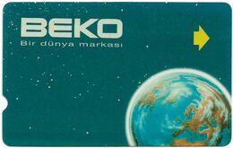 Turkey - TT - Alcatel - R Advert. Series - BEKO Earth, R-095, 100U, 1996, Used - Turquie