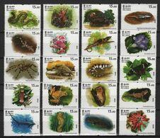 Sri Lanka (2020) - Set-  /  Butterflies - Orchids - Frogs - Vlinders - Birds - Reptiles - Fishes - Marine Fauna - Lizard - Papillons
