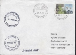 "SCHIFFSPOST  MS ""Harald Jarl"", Polarsirkelen,, Hammerfest Nordkapp 25.6.1986 - Maritime"
