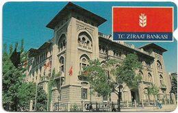 Turkey - TT - Alcatel - R Advert. Series - TC Ziraat Bankas, Building, R-080, 100U, 1995, Used - Turquie