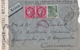 21251# CERES MERCURE LETTRE CENSURE MILITAIRE + CAMEROUN + CENSOR Obl ST ANTHEME PUY DE DOME 1942 COTONOU - Marcophilie (Lettres)