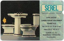 Turkey - TT - Alcatel - R Advert. Series - Serel Bathroom Accessories, R-22, 30U, 06.1994, 240.375ex, Used - Turquie