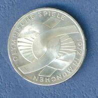 GERMANIA YEAR 1972 - VERY FINE - SILVER -  10 MARCHI OSSIDO NATURALE NON PULITA - GIOCHI OLIMPICI A MONACO ( J ) - [10] Commémoratives