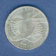 GERMANIA YEAR 1972 - VERY FINE - SILVER - 10 MARCHI OSSIDO NATURALE NON PULITA - GIOCHI OLIMPICI A MONACO ( F ) - [10] Commémoratives