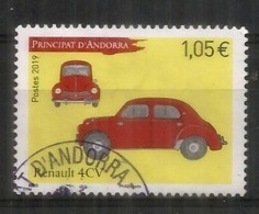 ANDORRA. Renault 4CV, Année 1947. Un Timbre Oblitéré 2019, 1 ère Qualité - Oblitérés