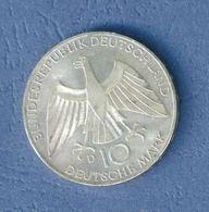 GERMANIA YEAR 1972 - VERY FINE - SILVER - 10 MARCHI OSSIDO NATURALE NON PULITA - GIOCHI OLIMPICI A MONACO ( D ) - [10] Commémoratives