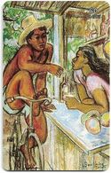 French Polynesia - OPT - On Bavarde Sur Les Quais - Gem1B Not Symm. White/Gold, 06.1996, 60Units, 30.000ex, Used - Polinesia Francese