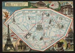 Les Arrondissements De Paris Illustrés - 7e - VIIe Arrondissement - Palais Bourbon - Plan - 2 Scans - District 07