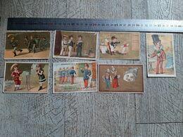 7 Chromos  Images Publicitaires Marseille Gompel Administration Du Bon Génie  Chromo - Old Paper