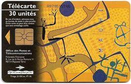 French Polynesia - OPT - Maohi, The Fire - Gem1A Symmetr. Black, 06.1997, 30Units, 20.000ex, Used - Polinesia Francese