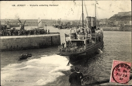 Cp Jersey Kanalinseln, Victoria Entering Harbour - Sonstige