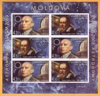 2009 Moldova Moldavie Moldau Galileo Galilei Donici Astronomer Europa-cept H-Blatt 11b - 2009
