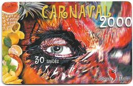 French Polynesia - OPT - Carnaval De Tahiti 2000 - Gem1A Symmetr. Black, 10.2000, 30Units, 100.000ex, Used - Polinesia Francese