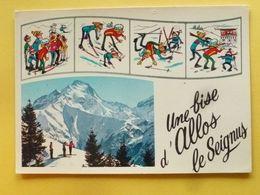 V11-04-alpes De Haute Provence-allos-multivues- Une Bise- D'allos Le Seignus--4 Dessins- - Non Classés