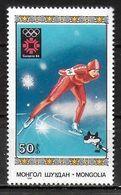 MONGOLIE   N° 1287   * *   JO 1984   Patinage De Vitesse - Figure Skating