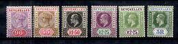 Seychelles YT N° 8, N° 17, N° 47, N° 48, N° 88 Et N° 89 Neufs *. B/TB. A Saisir! - Seychelles (...-1976)