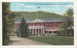 Virginia. Front Entrance, Homestead Hotel , Hot Springs, Va - Hotels & Restaurants